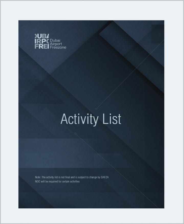 Cover Image Activity List DAFZA