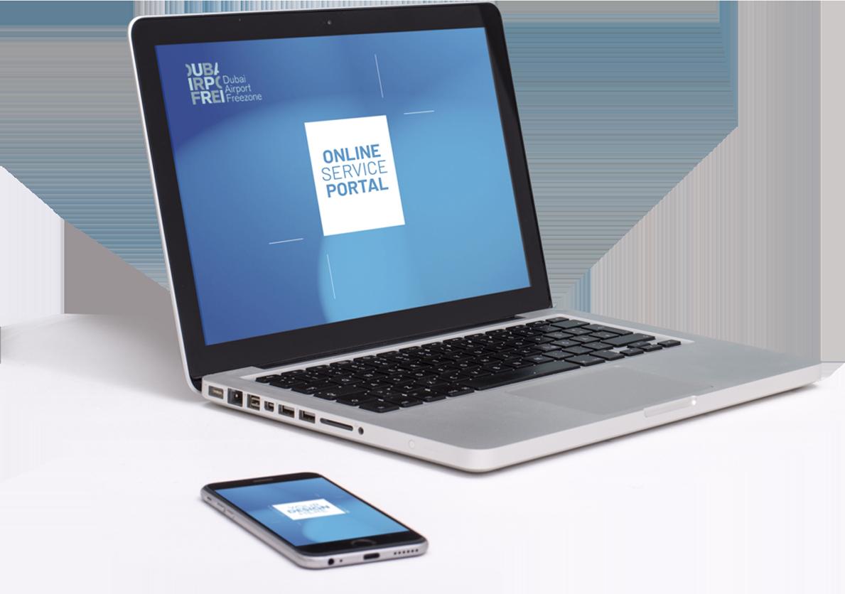 Online business service portal DAFZA