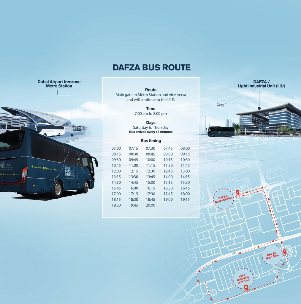 DAFZA Bus Route Chart