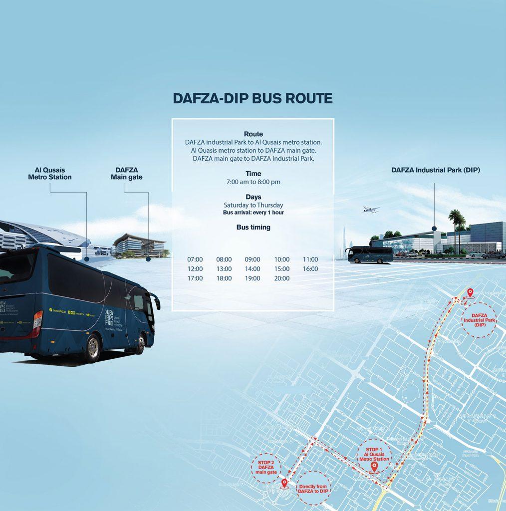 DAFZA DIP Bus Route